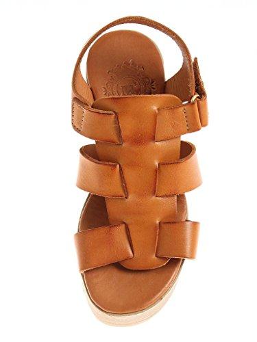 Couleurs Talons Dames Chameau Chaussures À Hauts forme D'été 1522 Avec Des Kathamag De La Von Deux Sandales Cuir M Plate ZI1TR1