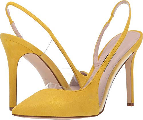 Nine West Women's Toffee Pointed Toe Slingback Pump Yellow 8 M US