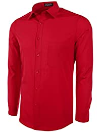Marquis Men's Slim Fit Solid Dress Shirt - Available in Many Colors
