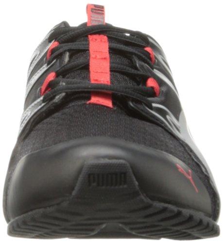 Puma Chaussures De Course Powertech Voltaic Noir / Risque Élevé Rouge / Argent Puma