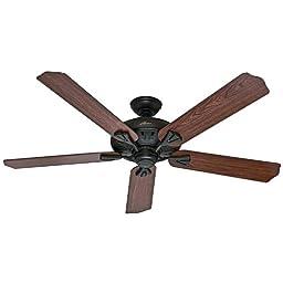 Hunter 54018 The Royal Oak 60-inch New Bronze Ceiling Fan with Five Dark Cherry/Medium Oak Blades