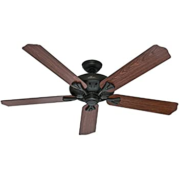 Hunter 54018 the royal oak 60 inch new bronze ceiling fan with hunter 54018 the royal oak 60 inch new bronze ceiling fan with five dark cherry aloadofball Image collections