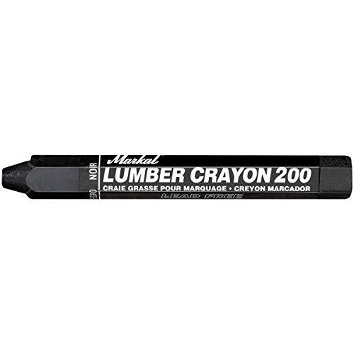 - Markal 200 Lumber Crayon Economical Wax Based Marker, 1/2
