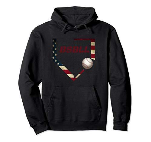 Baseball Graphic Hoodies Men BSBL American Flag Baseballin
