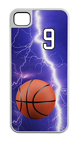 - iPhone 7 Plus 7+ Case Basketball Controlling The Boards Customizable Tough Case by TYD Designs in White Plastic and White Rubber with Team Number 9