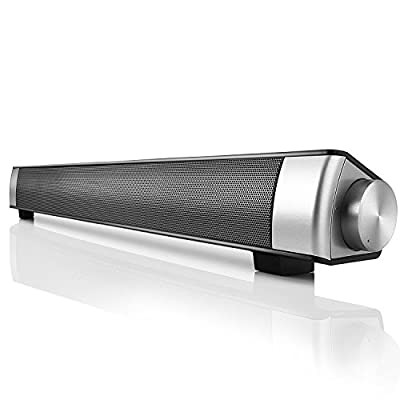 Bluetooth Speaker, Yokkao Bluetooth 3.0 Wireless Soundbar Built-in Subwoofer Multifunctional Speaker Support TF Card/ 3.5mm Aux-in for iPhone iPad Samsung Smartphone/ Tablet/ MP3 Player from Yokkao