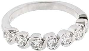 Women's 18K White Gold Diamond Ring - Size 5 US