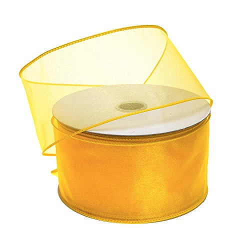 Homeford FJT0000090344049 Ribbon, 2-1/2'', Sunflower by Homeford