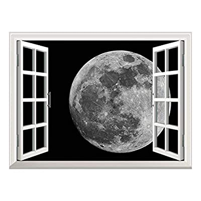 Removable Wall Sticker Wall Mural Full Moon Against...