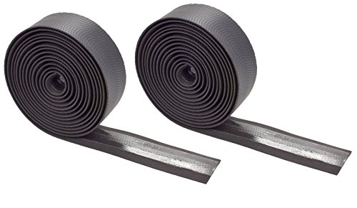 Domain Cycling EXTRA LONG Gel Bicycle Handlebar Bar Tape Wrap for Road Bikes and Cycling (Black)