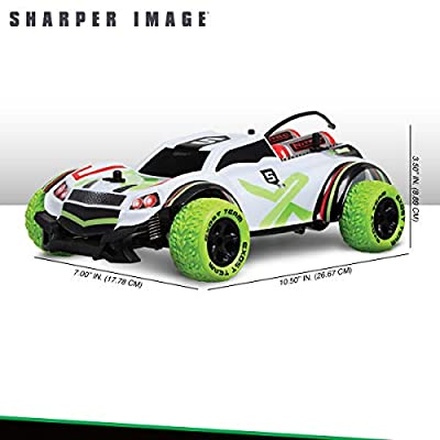SHARPER IMAGE X Bull RC Car for Kids, All-Terrain Vehicle with Spring-Loaded Axles and Shock-Absorbing Knobby Lime Green Tires, 6 MPH Actual Speed, 65 Foot Control Range, 27 MHz: Kitchen & Dining