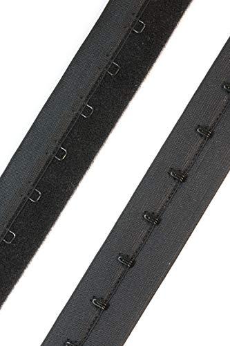 One Hook Clevis - CLEVIS BEND 2YD Hook & Eye Long line Closure (Black, Single Row)