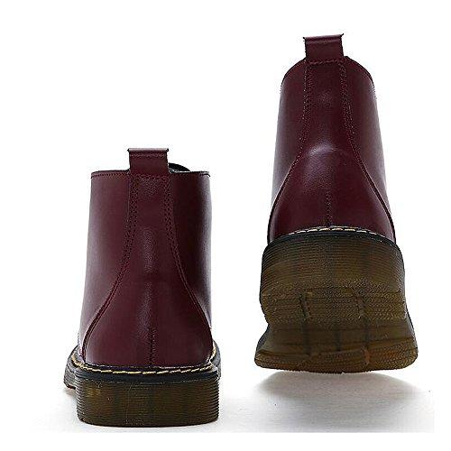 casual chaussures robe alpinisme automne plein air [fond mou] boots glisser sur blanc-rouge Longueur du pied=43EU SYQPM