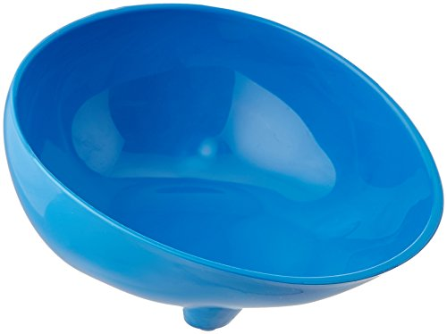 (Sammons Preston Blue Polyester Scooper Bowl, Hi Lo Dish with Contoured Lip and Non Skid Feet for Independent Eating for Elderly, Kids, Handicapped, and Disabled, Heavy Duty Poly Bowls)