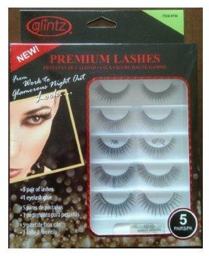 e008bbbfc8d Amazon.com : Glintz Premium Lashes 5 Pair with Eyelash Glue (796) pack of 2  : Beauty