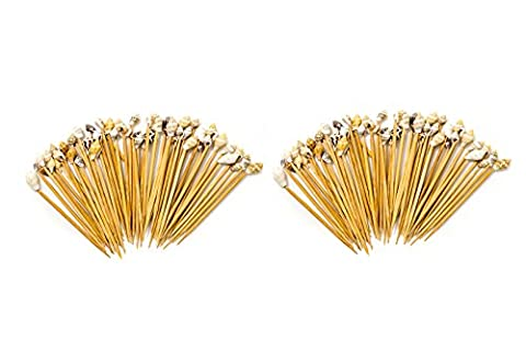 Sea Shell Toothpicks | 100 Sea Shell Party Picks |Shell Toothpicks for Tiki Bar and Beach Wedding| Nautical Crush Trading - Decorative Toothpicks