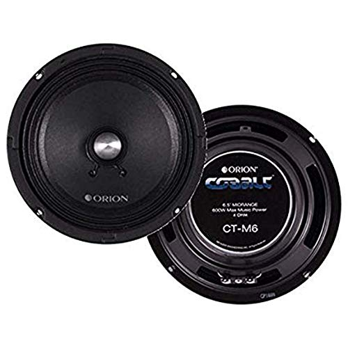 "Orion Cobalt Series CT-M6 6.5"" 600 Watts Max High Efficiency 4-Ohm Midrange Speakers - Pair"