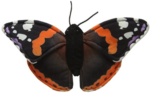 National Geographic 6 Piece Butterfly Plush Set - Red Admiral, Silver-Washed Fritillary, Peacock Butterfly,  Painted Lady,  Blue Pansy, Swallowtail