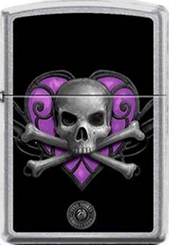 Purple Heart Death Skull by Anne Stokes Artist Zippo Lighter