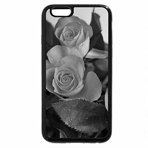 iPhone 6S Case, iPhone 6 Case (Black & White) - Orange Roses