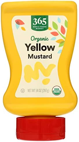 365 by Whole Foods Market, Organic Mustard, Yellow, 14 Ounce