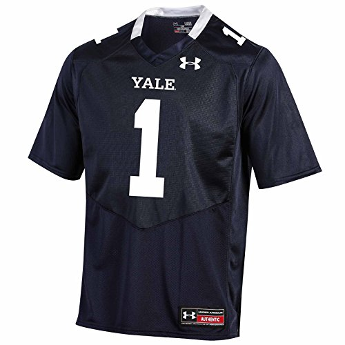 (Under Armour NCAA Yale Bulldogs #1 Men's Official Sideline Jersey, 3X-Large, Navy)