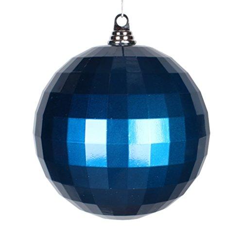 Vickerman Candy Finish Shatterproof Mirror Ball Christmas Ornament, 1 per Bag, 8'', Sea Blue by Vickerman