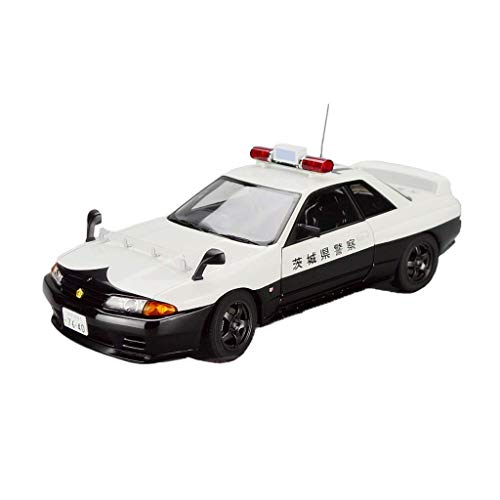 NY YN Modle Car 1:18 Nissan Skyline GTR R32 Police Car Alloy Car Model Metal Children Pull Back Toy Car Boy Collection Vehicle Playsets ( Color : White )