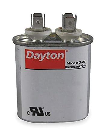 amazon com: dayton 2mdv4 oval motor run capacitor, 5 microfarad rating,  370vac voltage: industrial & scientific
