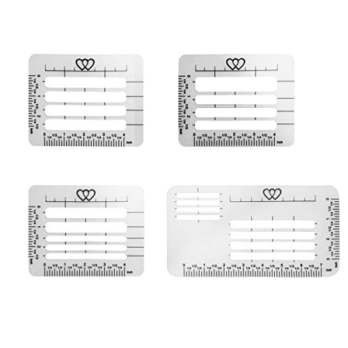 Gnognauq 4 Pcs Lettering and Envelope Addressing Guide Stencil Templates for Envelopes, Thank You Cards,Wedding Invitations(4 Styles) ()