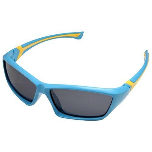 grinderPUNCH Boys Sports Kids Children's Super Flexible Polarized Sunglasses Light - With Glasses Boy Little