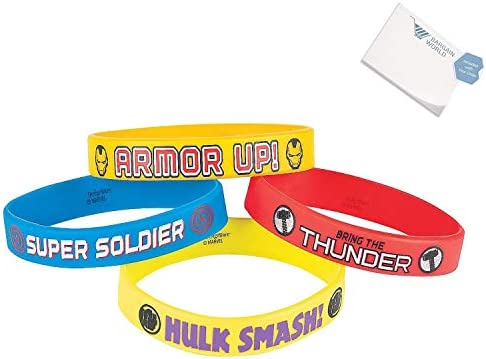 Bargain World Rubber Marvel Avengers Bracelets (With Sticky Notes)