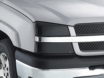 Amazon Com Avs 37724 Chevy Silverado Blackout Headlight Covers