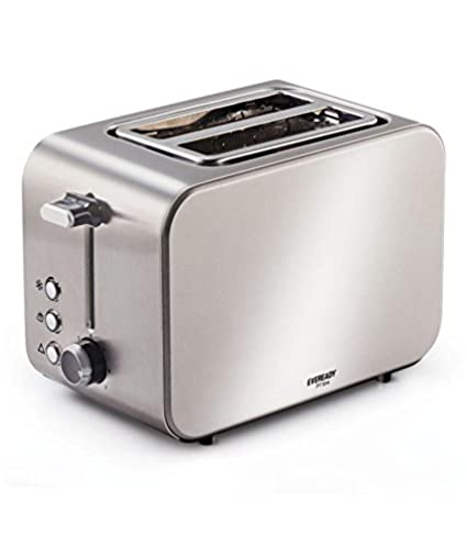 EVEREADY Stainless Steel Pop Up Toaster PT104 825W (Silver)