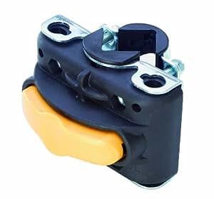 Bellelli Multi-Fix - Fijación para cuadro para asiento infantil trasero, color negro y amarillo