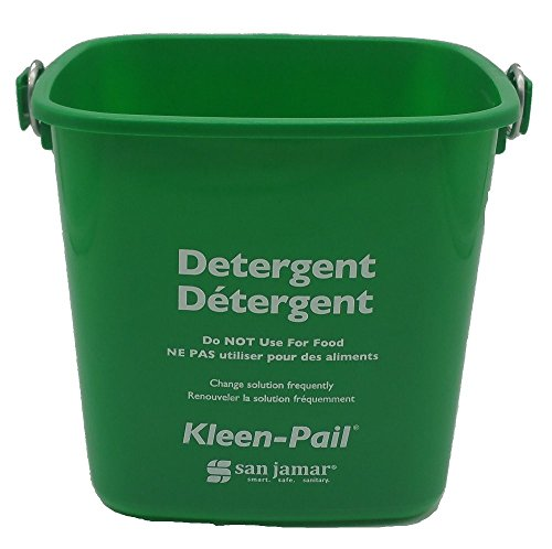 Mop Coded Colour (San Jamar KP97GN Kleen-Pail Commercial Cleaning Bucket, 3 Quart, Green)