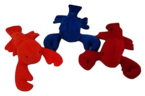 Set of 3 Plush Colorful Lobsters of the Ocean - Soft Velour Stuffed Sea Animals