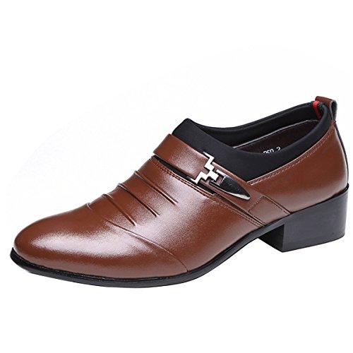 Gaorui New Hombres Boys Sandalias De Playa Con Puntera Cerrada Zapatos De Cuero Antideslizantes Al Aire Libre De Piel Suave Marrón