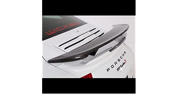Amazon.com: 2014 Porsche 991 Turbo & Turbo S Carbon Fiber Rear Spoiler Bi Wing: Automotive