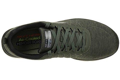 Skechers Mannen Flex Voordeel 2,0 Outdoor Fitness Schoenen Groen