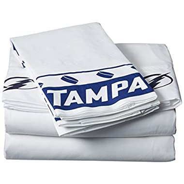 NHL Tampa Bay Lightning Micro Fiber Sheet Set (Queen)