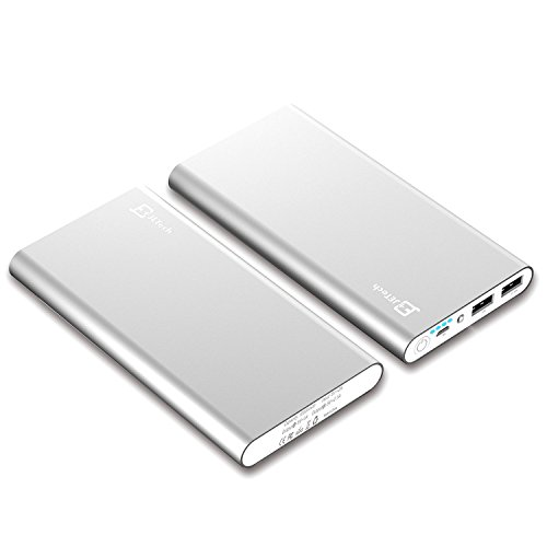 power Bank JETech 10000mAh 2 return transportable External power Bank Battery Charger Pack for iPhone 6 5 4 iPad iPod Samsung equipment bright cellular phones Tablet PCs Silver and leisure Chargers