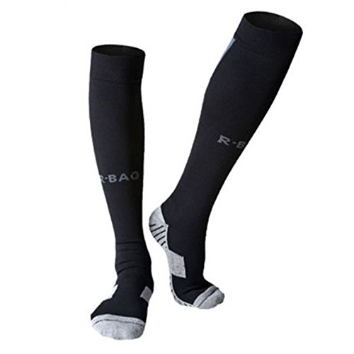 UPC 748782196534, MIUCOO Football Sock Compression Socks Football Running Sport Gym Cale (Black)