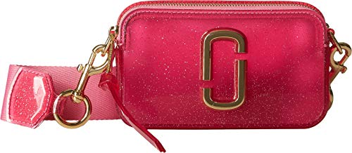 (Marc Jacobs Women's The Jelly Glitter Snapshot Camera Bag, Pink Multi, One)