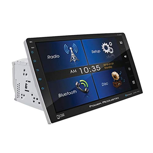 Power Acoustik PD-1060HB in-Dash 2-DIN 10.6'' Touchscreen Swiveling DVD Receiver with Bluetooth V4.0 Connectivity and Android Phonelink
