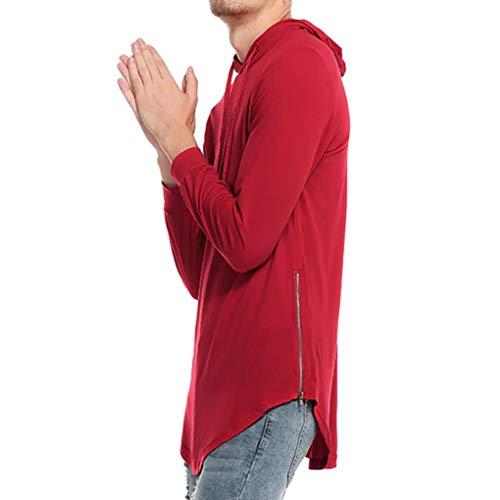 Logo Homme À Gilet Manches Ujunaor Longues Boutons Rouge Avec UqzIxq0wR