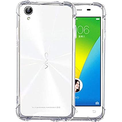 big sale 698f1 7a47e for vivo y51 :: y51l Soft Back case Cover Transparent with Shock Proof  Corners