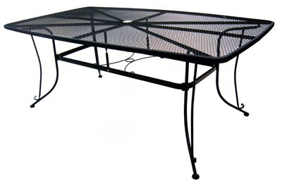 woodard cm llc 1172-bxu Uptown Collection , 42″ x 72″, Standard Mesh Dining Table
