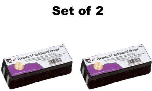 Set of 2 Charles Leonard Chl74586 Premium Chalkboard Eraser