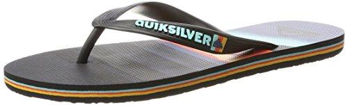 Quiksilver Molokai Slash Logo, Sandalias Para Hombre Multicolor (Black/orange/blue - Combo)